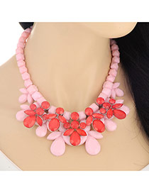 Exaggerate Pink Leaf Shape Pendant Decorated Simple Design