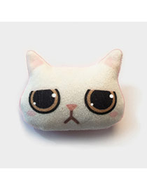Lovely White Cat Pattern Decorated Simple Design Plush Wallet