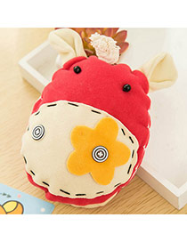 Lovely Red Donkey&flower Decorated Simple Design Fabric Fashion Keychain
