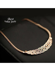 Elegant Gold Color Diamond Decorated Weaving Design