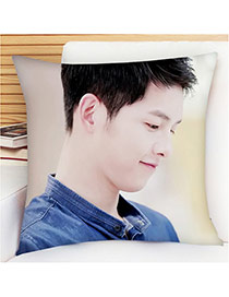 Fashion Purple Soldier Pattern Pillow Cases Dots Descendants Of The Sun Fabric Household goods