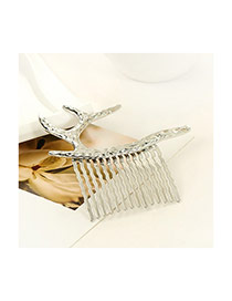 Vintage Silver Color Elk Shape Decorated Simple Design Alloy Hair clip hair claw