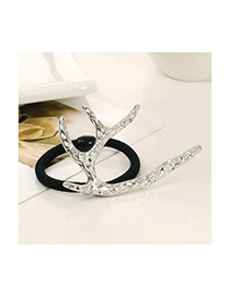 Vintage Silver Color Elk Shape Decorated Simple Design Alloy Hair band hair hoop