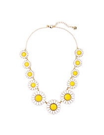 Cute Yellow Sunflower Shape Decoated Simple Design