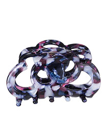 Fashion Purple Irregular Pattern Decorated Hollow Out Design Acrylic Hair clip hair claw