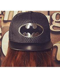 Fashion Black Metal Pattern Decorated Simple Design Canvas Baseball Caps