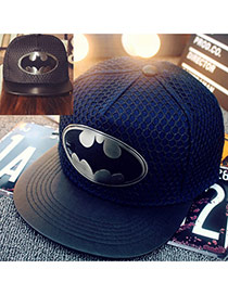 Fashion Navy Blue Metal Pattern Decorated Simple Design Canvas Baseball Caps