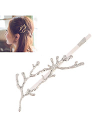 Fashion Silver Color Branch Shape Decorated Simple Design