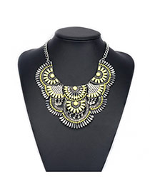Bohemia Yellow Fan Shape Decorated Short Chain Design