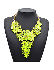 Sweet Yellow Flower Shape Simple Design Alloy Fashion Necklaces