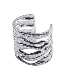 Fashion Silver Color Hollow Out Opening Design Alloy Fashion Bangles