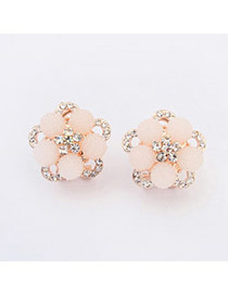 Fashion Silver Color Pure Color Decorated Simple Irregularity Earrings
