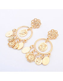 Retro Gold Color Flower Shape Decorated Simple Design