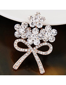 Sweet Rose Gold Bowknot Shape Decorated Simpe Brooch