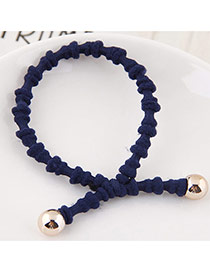 Elegant Navy Pure Color Design Bamboo Joint Shape Simple Hair Band