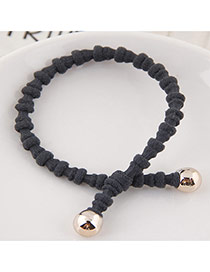 Elegant Dark Gray Pure Color Design Bamboo Joint Shape Simple Hair Band