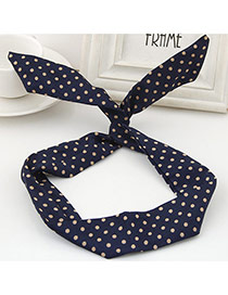 Sweet Black Polka Dot Decorated Rabbit Ears Hair Hoop& Hair Band