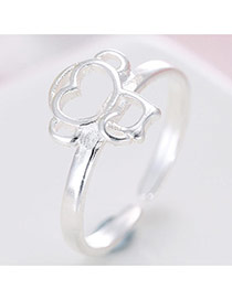 Fashion Silver Hollow Out Monkey Shape Decorated Simple Design Ring