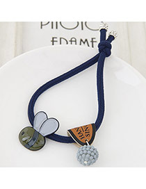 Cute Dark Blue Bee&ball Shape Pendant Decorated Simple Hair Brand