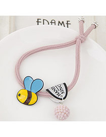 Cute Light Purple Bee&ball Shape Pendant Decorated Simple Hair Brand