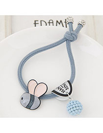 Cute Gray Bee&ball Shape Pendant Decorated Simple Hair Brand