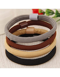 Elegant Random Pure Color Decorated Simple Hair Hoop&hair Band(1pcs)
