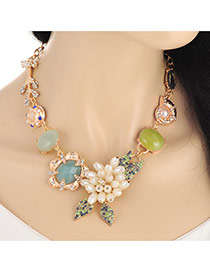 Elegant Multi-color Conch Decoreted Branch Shape Necklaces