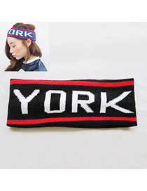Fashion Black New Yourk Letter Decorated Haie Band & Hair Hoop