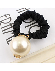 Elegant Black Rabbit Ear Shape Decorated Color Matching Hair
