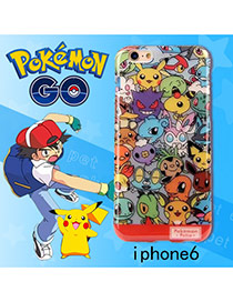 Cute Multi-color Monster Shape Pattern Decorated Ipone6s Cases