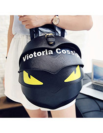 Cute Black Cartoon Ladybird Shape Decorated Simple Backpack