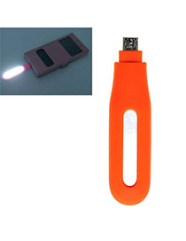 Trendy Orange Pure Color Design Hollow Out Led Fill Light Artifact (android)