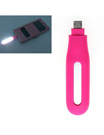 Trendy Plum Red Pure Color Design Hollow Out Led Fill Light Artifact (android)