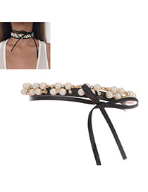 Fashion Milk White Pearls Decorated Multi-layer Simple Necklace