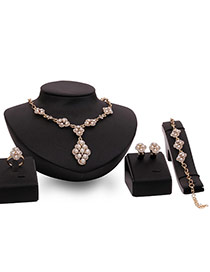 Exaggerated Gold Color+white Pearls Pendant Decorated Simple Jewelry Sets