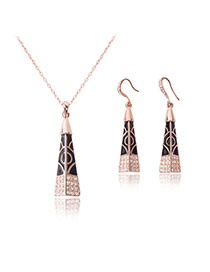 Fashion Gold Color Geometric Shape Pendant Decorated Simple Jewelry Sets (2pcs)