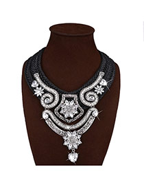 Bohemia Silver Color Heart Shape Pendant Decorated Hand-woven Necklace