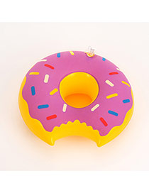 Lovely Purple Doughnut Pattern Decorated Simple Cup Holder Household Goods
