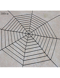Exaggerated Black Pure Color Decorated Simple Spider Web Halloween Props