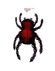 Exaggerated Red+black Color Matching Decorated Spider Shape Halloween Props