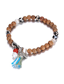 Bohemia Coffee Butterfly &tassel Decorated Simple Bracelet