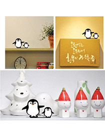 Cute White+black Color Matching Decorated Penguin Shape Home Furnishing Articles