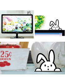 Cute White Color Matching Decorated Rabbit Shape Home Furnishing Articles