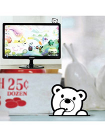 Cute White Color Matching Decorated Bear Shape Home Furnishing Articles