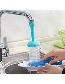 Fashion Blue Pure Color Decorated Simple Splash Water Valve