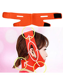 Fashion Orange Letter Pattern Decorated Pure Color Thin Face Mask