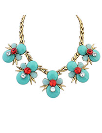 Personality Multi-color Bee Shape Decorated Short Chain Simple Necklace