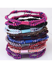 Fashion Multi-color Beads Decorated Color Matching Simple Hair Band (color Randomly)