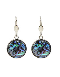 Fashion Multi-color Painted Sculptures Pattern Decorated Round Shape Earring