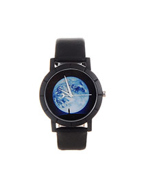 Personality Multi-color The Earth Pettern Decorated Simple Wrist Watch